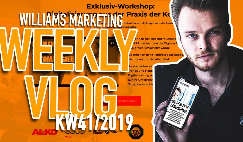 KW 41 Video Logbuch – So sieht die perfekte Landingpage aus